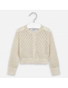 Sweter rozpinany ażurowy