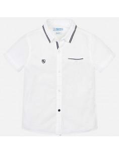 Koszula k/r gładka detale