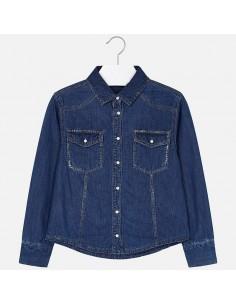 Bluzka jeansowa z połyskiem