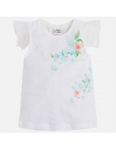 Koszulka k/r lamówka kwiat