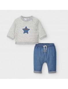 Komplet spodnie i pulower