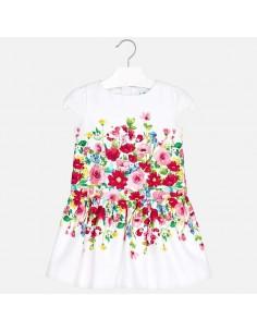 Sukienka z lamówką kwiat